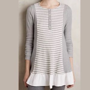 Anthropologie Everleigh Thermal Henley Top Small